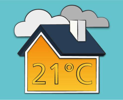 Mantener temperatura en el hogar